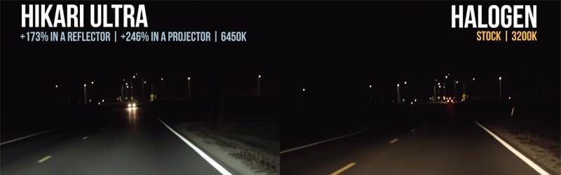HIKARI Ultra LED vs Halogen Light sample