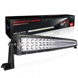 MICTUNING 42 240W 3B339C Curved LED Work Light Bar Combo review