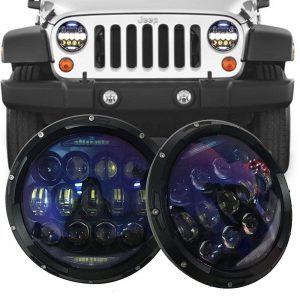 SUP-LIGHT 7 Inch 130W Led Headlights with White Amber DRL review