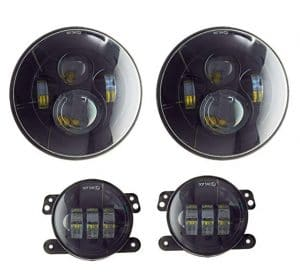 Akarui Approved 7 Black Daymaker LED Headlights + 4 Cree LED Fog Lights review