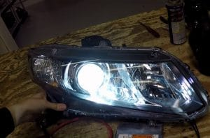 How to Reseal Headlights - Testing the Light