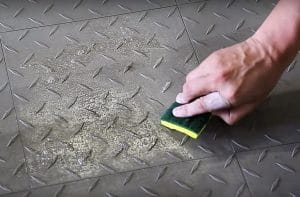 How to clean a tile garage floor