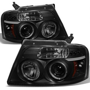 Ford F-150 Black Smoke Dual Halo LED G2 Projector Headlights Review