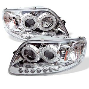 Ford F-150 Expedition Dual LED Halo Ring Chrome Clear Projector Headlights Review