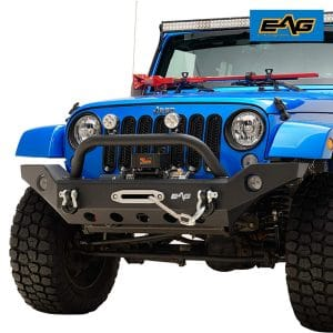 EAG Front Bumper Full Width with Winch Plate review