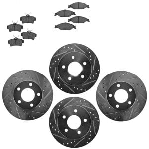 Nakamoto Rotor & Brake Pad Kit Ceramic Performance Drilled Slotted Front Rear review