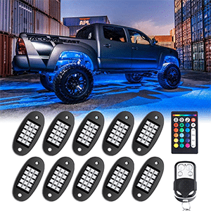 MustWin RGB LED Rock Lights review